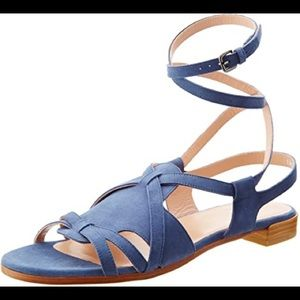 Stuart Weitzman Blue Huarache Gladiator Sandals